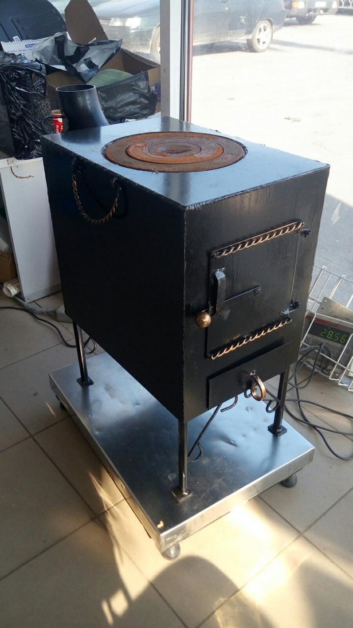 Печка дровяная (буржуйка) металл 3 мм.