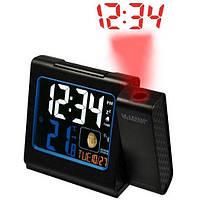 Проекционные часы La Crosse WT551-Black с датчиком температуры, фото 1