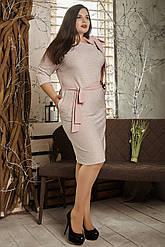 Сукня жіноча 729-2 пудра