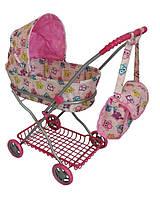 Коляска детская для кукол 9325 с сумкой