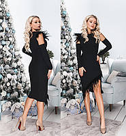 Сукня жіноча зі знімними рукавами ТК/-6040 - Чорний, фото 1