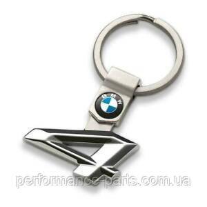 Брелок BMW 4 Series Key Ring Silver  80 27 2 454 650