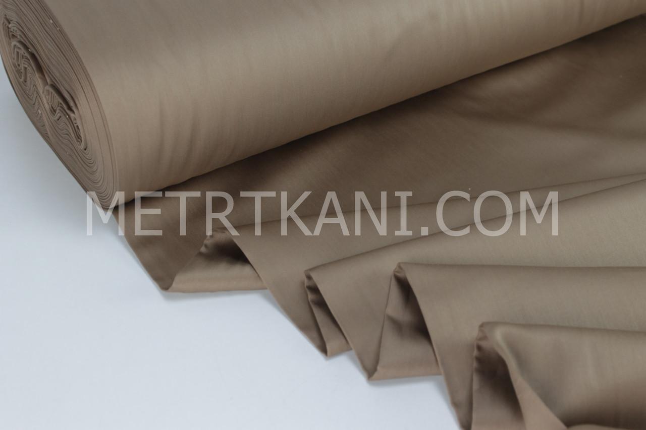 Сатин премиум шоколадного цвета ширина 240 см № ПС-0052