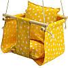 Дитячі гойдалки для будинку підвісні жовта Зірочки
