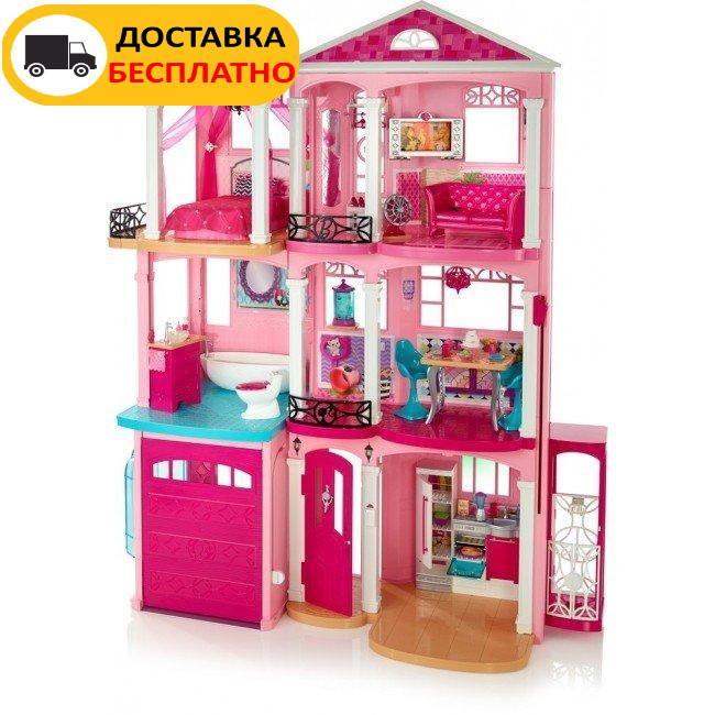 Ігровий набір Barbie Dreamhouse Барбі Будинок мрії Малібу 3-х поверховий з ліфтом і басейном FFY84