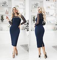 Женское платье миди ТК/-4003 - Синий, фото 1