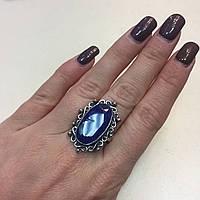 Кольцо овал сапфир в серебре. Кольцо с сапфиром 19 размер Индия