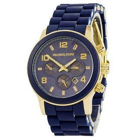 Наручные часы эконом Michael Kors Blue-Gold-Blue Silicone