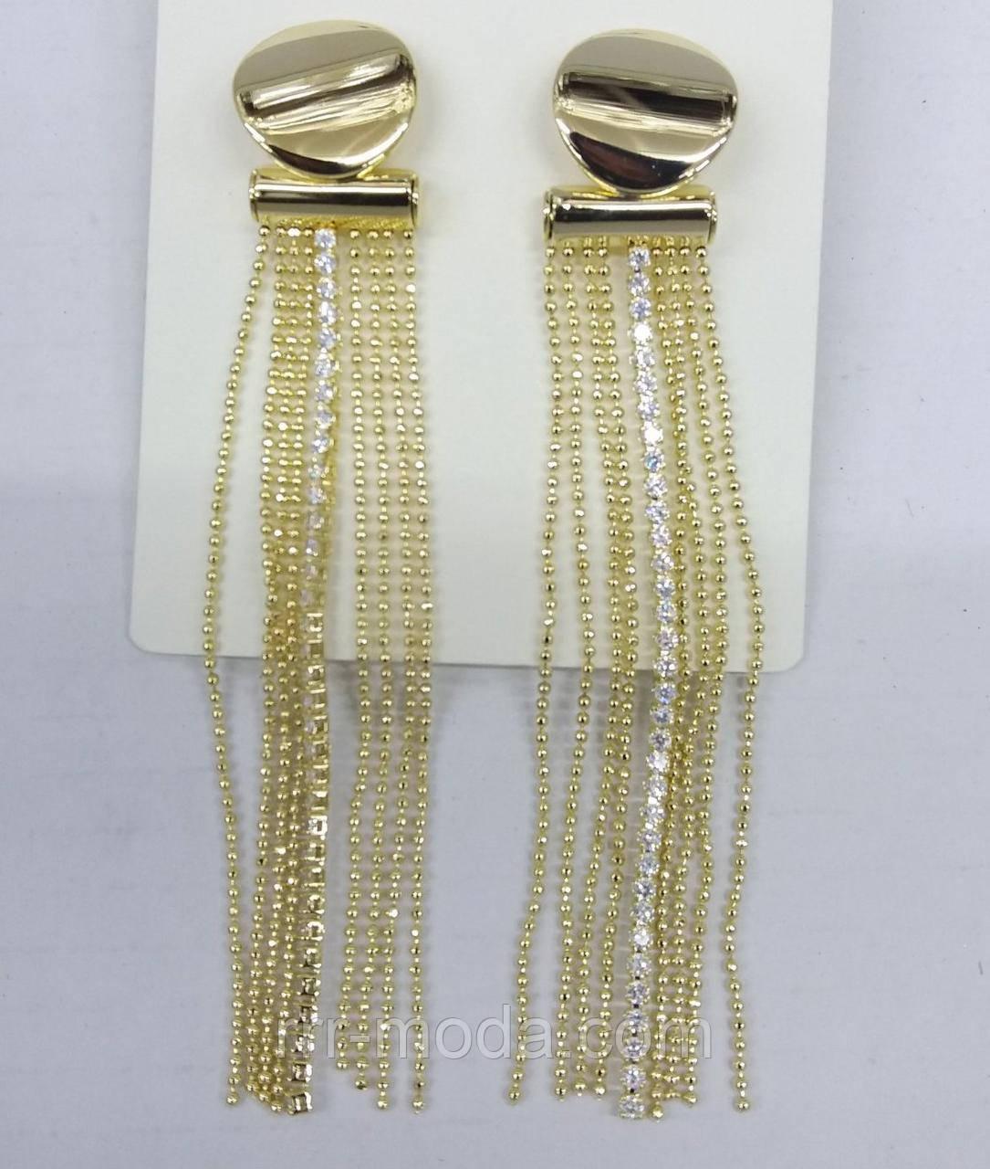 2353 Элитные серьги банты со стразами (гвоздики) оптом. Ювелирные украшения.