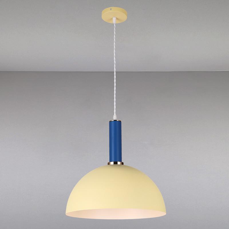 Люстра подвесная на одну лампу  LS-814028-1 BEIGE INDIGO бежевая