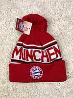 Мужская зимняя шапка Бавария Мюнхен (Bayern Munich) красная 2019