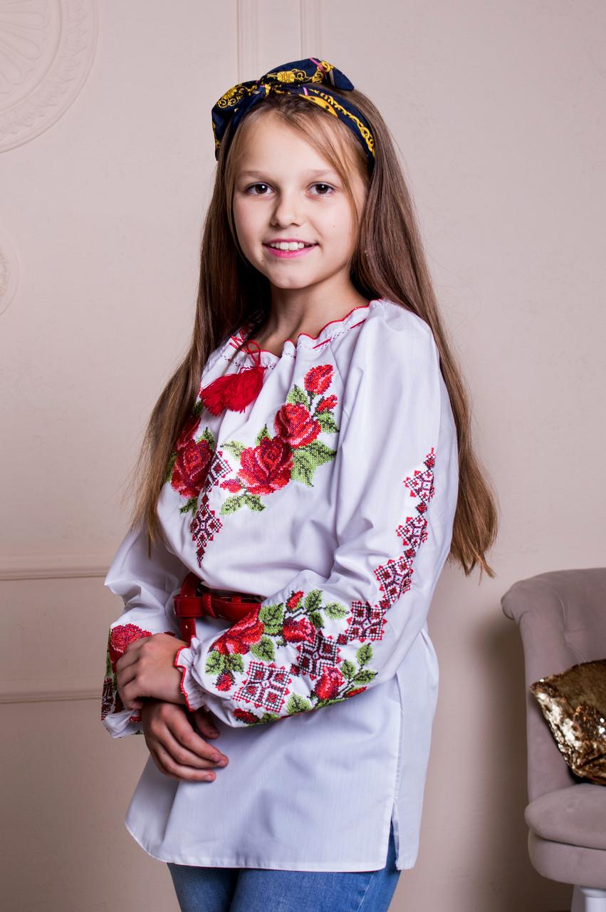 Батистовая вышиванка детская Зорянка