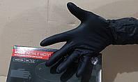 Перчатки нитриловые Черные IDEAL MOTO текстурированные Ультра Плотные (100шт/уп.)