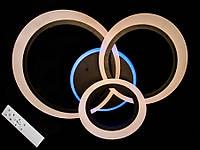 Светодиодная люстра с пультом-диммером и синей подсветкой коричневая 77001-3, фото 1