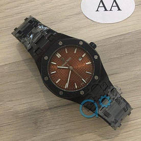 Наручные часы эконом Audemars Piguet Royal Oak Quartz Black-Brown