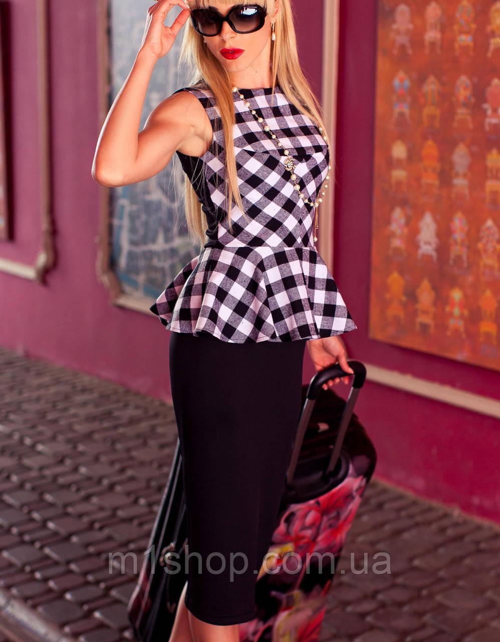 Платье с баской   Chalin jd