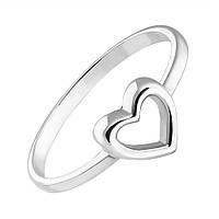 Золотое кольцо I love you с шинкой в форме сердца в белом цвете 000053284 18.5 размер