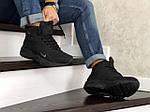 Чоловічі зимові кросівки Nike Air Huarache (чорні), фото 2