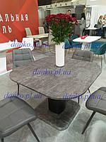 Раздвижной стол ТМL-570 антрацит + черный 110/150 от Vetro Mebel