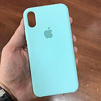 Чехол на телефон iphone x xs 10 красивый силиконовый бампер для айфона 10 бирюзовый