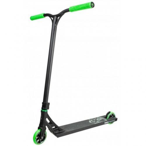 Трюковый самокат Addict Equalizer Scooter Black Green