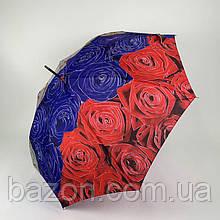 Женский зонтик трость, полуавтомат на 8 карбоновых спиц SWIFT, 1112-6