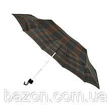 Компактный механический зонт Swifts на 8 спиц в клеточку, коричневый цвет, 1771-1