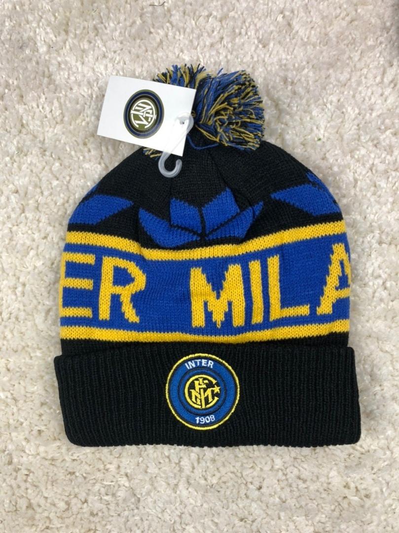 Мужская зимняя шапка Интер (Inter) черная 2019