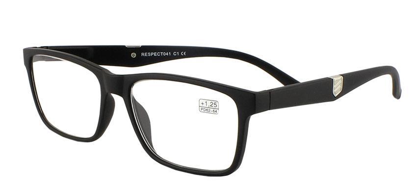 Очки диоптрийные для зрения, плюсовые, для чтения, чёрные матовые, пластик,  унисекс, Respect