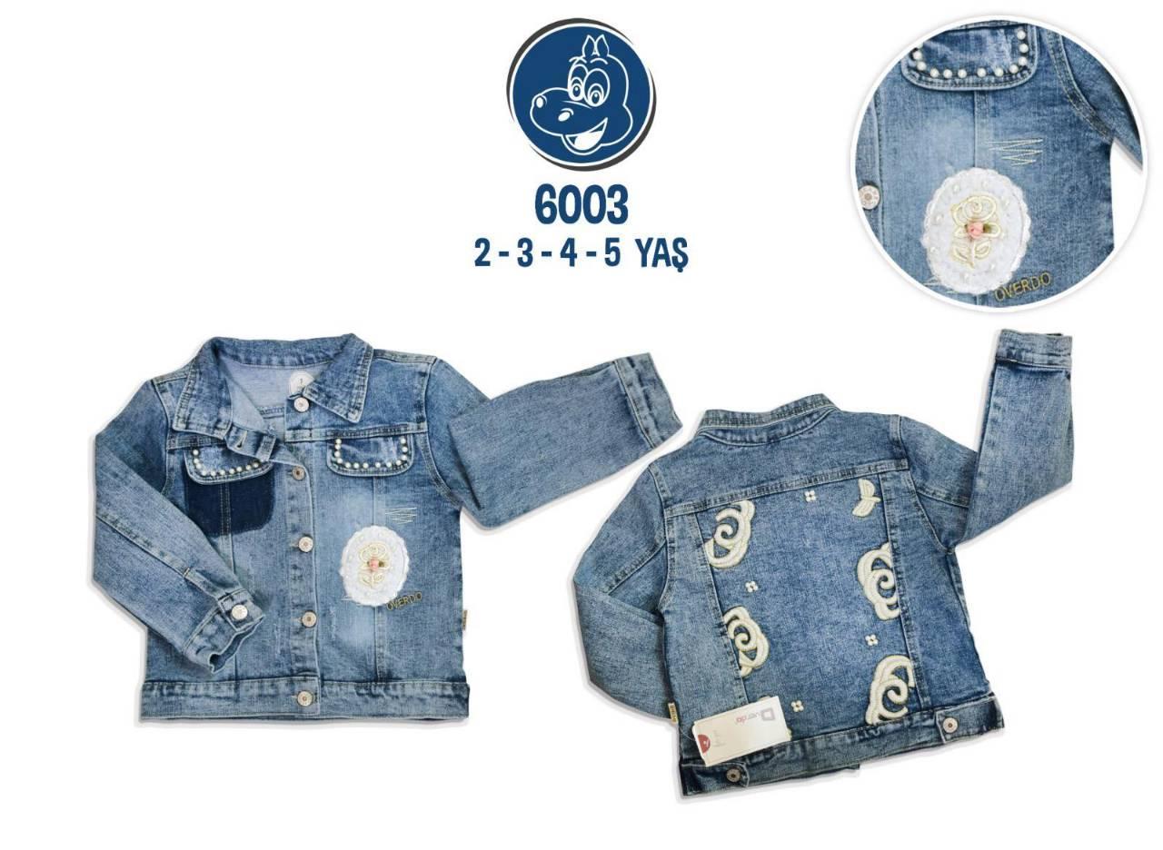 Джинсовая куртка на девочку 2,3,4,5 лет