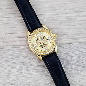 Наручные часы эконом Omega Black-Gold-Gold Diamonds
