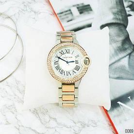 Наручные часы эконом Cartier 6668 Silver-Cuprum-White