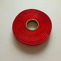 Лента атласная 0,6 см красная