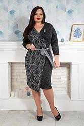 Сукня жіноча 734-3 темно - сіре