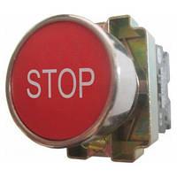 """Кнопка PB2-ВА4342 червона маркування """"STOP"""" Ø22mm NС Electro"""