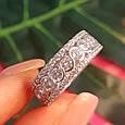 Серебряное брендовое кольцо с фианитами - Женское серебряное родированное кольцо, фото 7
