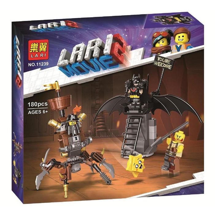 "Конструктор Bela (Lari) 11239 ""Боевой Бэтмен и Железная борода"" 180 деталей. Аналог Lego Movie 2 (70836)"