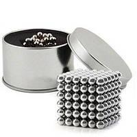 Магнитный конструктор головоломка Неокуб / NeoCube 216 шариков по 5 мм, цвет серебро