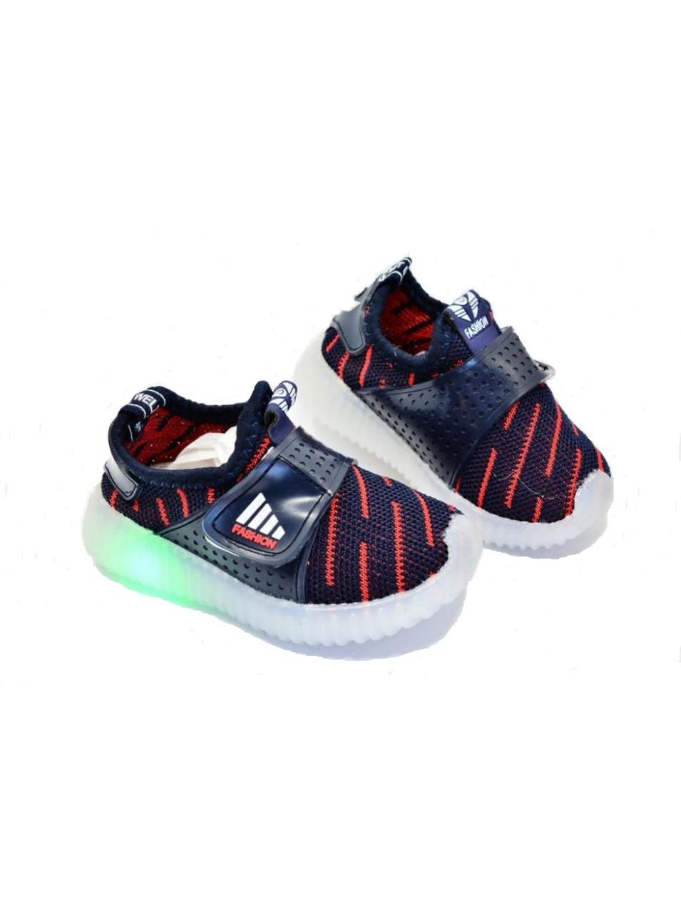 Кроссовки детские Jong Golf текстильные светящиеся 24р.