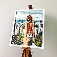 Багетная Рамка под Картину 40x50 см Пластиковая Белая 2216-291