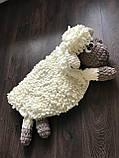 Мягкий вязаный детский плюшевый коврик Баранчик Шон ручной работы., фото 3