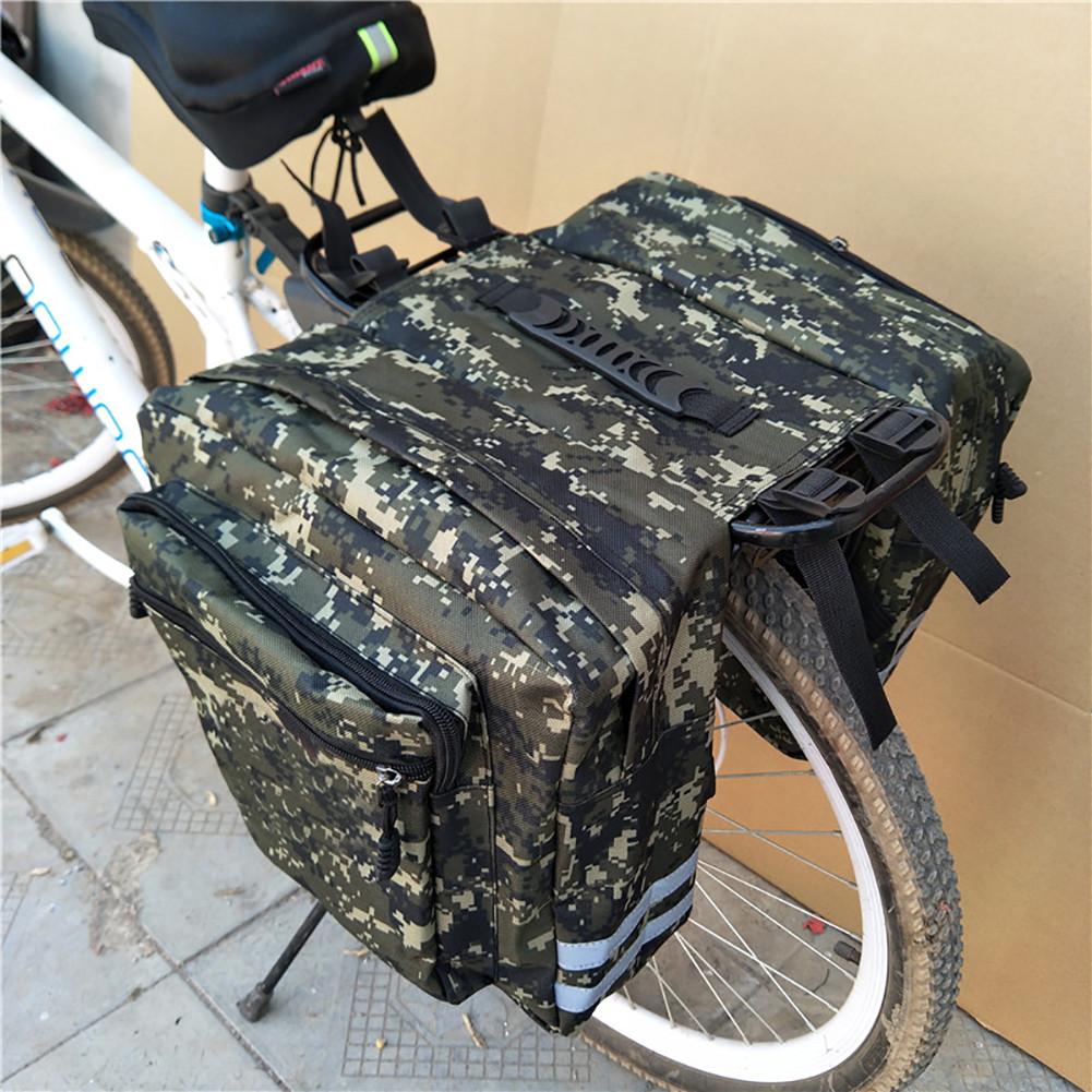 Велосумка-штаны, на багажник QIJian QJ-050, зеленая хаки (20L)