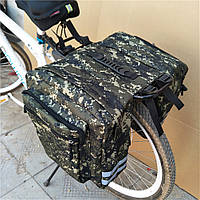 Велосумка-штаны, на багажник QIJian QJ-050, зеленая хаки (20L), фото 1