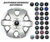 """Колпаки SJS (Турция), 15"""" 310 Renault (к-т 4 шт) + эмблема на выбор"""