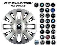"""Колпаки SJS (Турция), 15"""" 324 Renault (к-т 4 шт) + эмблема на выбор"""