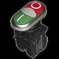 Кнопка PB2-LA32HDN-11 двойная с LED подсветкой (красная, зеленая) Ø22mm NO+NС Electro