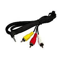 Аудио-видео кабель Mini Jack ST 3.5 на 3RCA 1.2м R150838