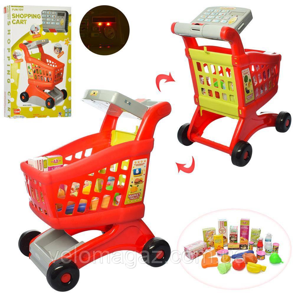 Дитячий іграшковий магазин, візок з касовим апаратом, продукти XS-14059A