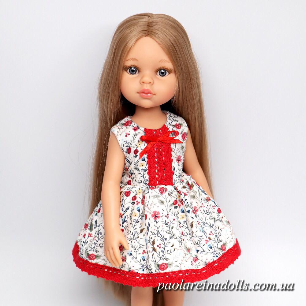 """Платье """"Цветочный луг"""" для кукол Паола Рейна"""