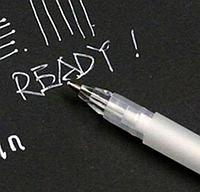 Ручка маркерна TOUCHNEW GG08 біла водорозчинна для темної тканини, шкіри, фото 1